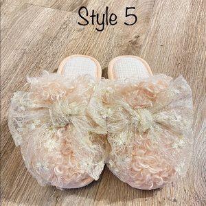 Handmade ultra soft Bridal Slippers